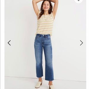 Madewell slim wide-leg jeans in garret wash